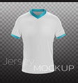 jersey mockup realistic vector image vector image