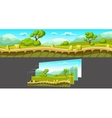 Landscape With Separated Layers For Game vector image