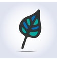 leaf icon hand drawn vector image vector image