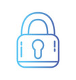 line padlock security protection object to privacy vector image vector image