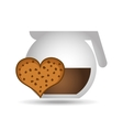 maker coffee heart cookie chip bakery icon design vector image