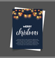 merry christmas lighting background poster vector image vector image