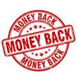 money back red grunge round vintage rubber stamp