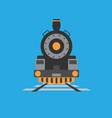 old train icon set of great flat icons for vector image vector image