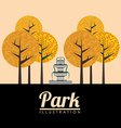 Park design vector image