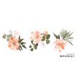 realistic 3d floral bouquet design garden vector image vector image