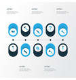 repair icons colored set with hatchet hammer vector image vector image