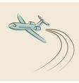 Retro background with plane vector image