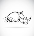 Rhino design vector image