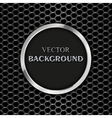 round metal frame vector image vector image