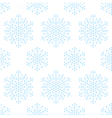 Seamless pattern with geometric snowflakes vector image