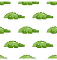 seamless repeating pattern with crocodiles vector image vector image