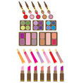 Set of decorative cosmetics vector image vector image