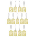 set of tags with discounts sale vintage style vector image vector image