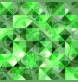 shamrock geometric pattern green emerald clover vector image vector image