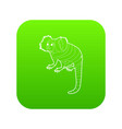small monkey icon green vector image