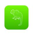 small monkey icon green vector image vector image