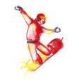 snowboarder watercolor vector image vector image