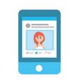 social network profile cartoon vector image