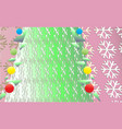 vintage christmas background with green tree and vector image vector image
