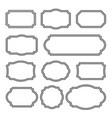 vintage frames set - vintage frames clipart bundle vector image