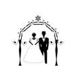 vintage graphic chuppah arch jewish wedding vector image vector image