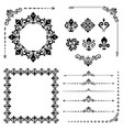 vintage set of horizontal square and round vector image vector image