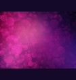 violet bokeh shining background vector image vector image