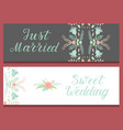wedding invitation card save the date suite vector image