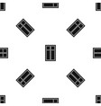 wooden window pattern seamless black vector image vector image