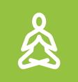 Yoga meditation icon vector image vector image