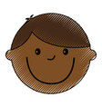 young boy black avatar character vector image