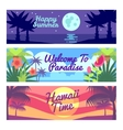 Happy summer travel time hawaii advertising vector image
