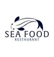 sea food restaurant and fish logo vector image