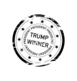 stamp with inscription Trump Winner vector image