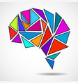 abstract geometric human brain vector image