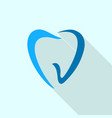 abstract tooth logo icon flat style vector image vector image