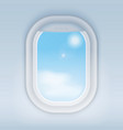 aircraft airplane realistic window vector image vector image