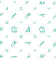 army icons pattern seamless white background vector image vector image