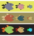 Background with colored piranhas vector image vector image