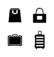 bag and suitcase simple related icons vector image vector image