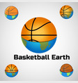 basketball logo for team and cup vector image