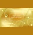 beautiful golden background vector image vector image