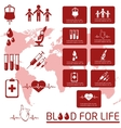 Blood donor Icon set vector image vector image