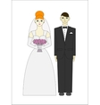 Bride ang groom Wedding couple vector image