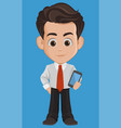 business man cartoon character cute young vector image vector image