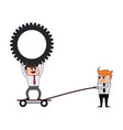 business teamwork coworkers vector image vector image