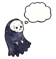 cartoon spooky ghoul with thought bubble vector image vector image