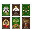 Casino Cards Mini Posters Banners Set vector image