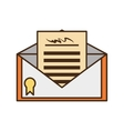 certified mail envelope isolated icon vector image